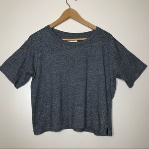 Madewell Grey Semi Cropped T-Shirt